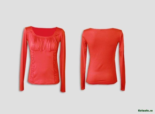 Блуза коралловая. Артикул 72500-7