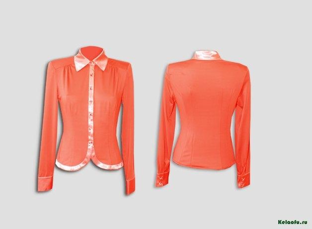 Блуза коралловая. Артикул 74018-4