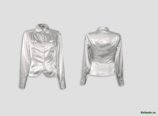Блуза светло-серая. Артикул 74018-2