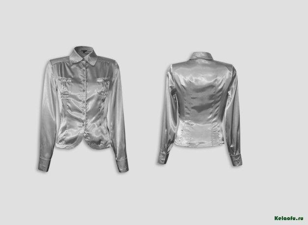 Блуза темно серая. Артикул 74018-2