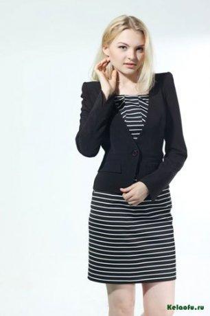 Женский костюм тройка: пиджак, платье и брюки. Артикул 74345AL