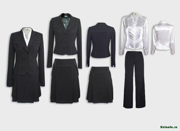 Женский костюм тройка черный с блузой. Артикул 74155