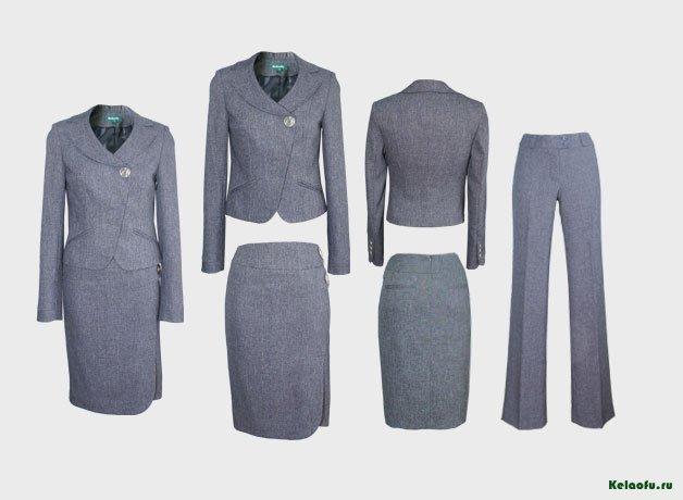 Женский костюм тройка серый.  Артикул 72013ABK
