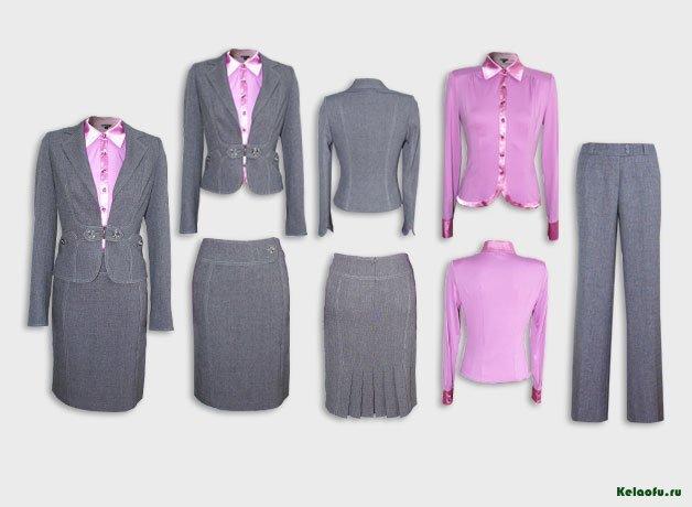 Женский костюм тройка темно-серый с блузой. Артикул 74141ABS