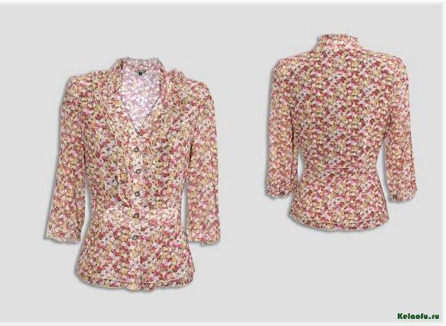 Блуза с цветами. Артикул 84607
