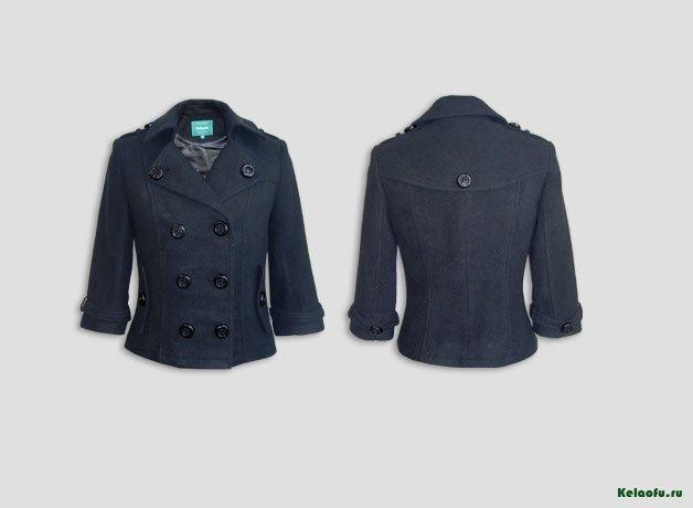 Женское пальто черное. Артикул 181157