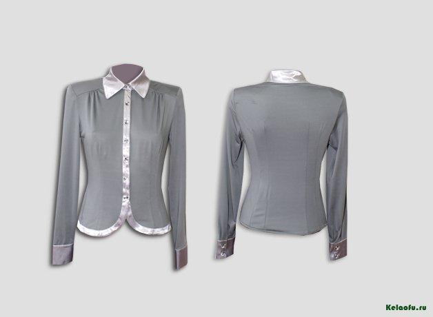 Блуза серая. Артикул 74018-4