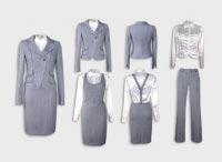 Женский костюм тройка светло-серый с блузой. Артикул 73096ALS