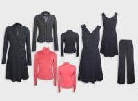 Женский костюм тройка черный с гольфом. Артикул 74116L