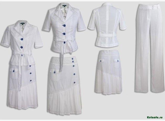 Женский костюм тройка белый.  Артикул 84675AB
