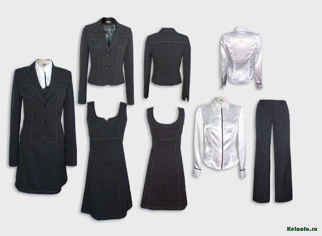 Женский костюм тройка черный с блузой.  Артикул 73118ALS