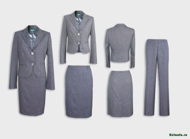Женский костюм тройка серый. Артикул 84596AB