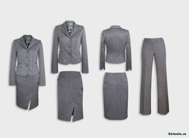 Женский костюм тройка серый.  Артикул 94118AB