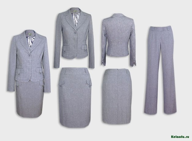 Женский костюм тройка светло-серый.  Артикул 73090ABK