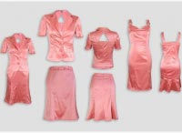 Женский костюм тройка персиковый.  Артикул 74153BL