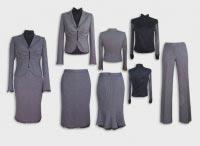 Женский костюм тройка серый с блузой.  Артикул 74021ABS