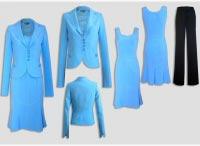 Женский костюм тройка синий.  Артикул 74219AL