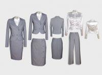 Женский костюм тройка светло-серый с блузой.  Артикул 83412ABS