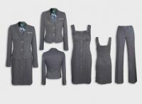 Женский костюм тройка темно-серый. Артикул 74131AL