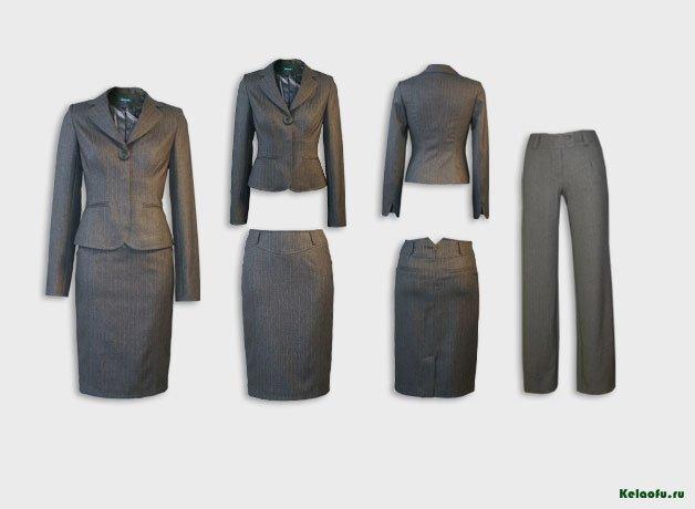 Классический женский костюм тройка доставка
