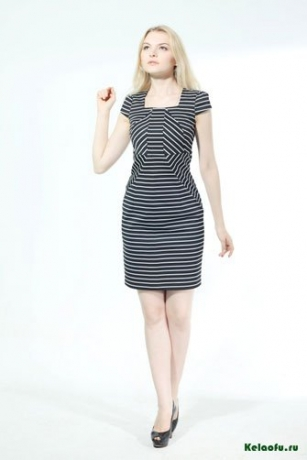 Платье черно-белое. Артикул 74350L