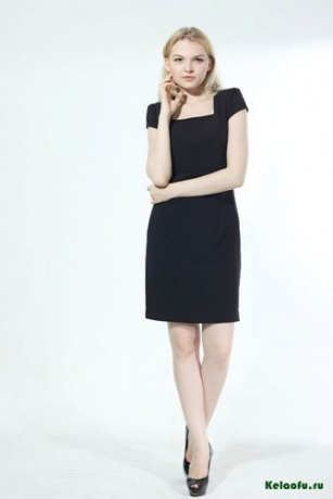 Женский костюм тройка черный: пиджак, платье и брюки. Артикул 74345AL