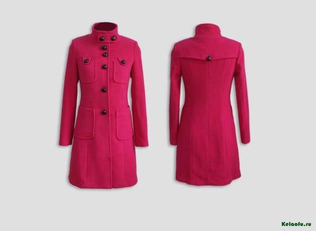 Женское пальто фуксия. Артикул 181091