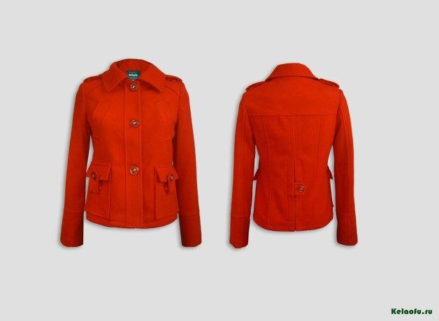 Женское пальто красное. Артикул 181186